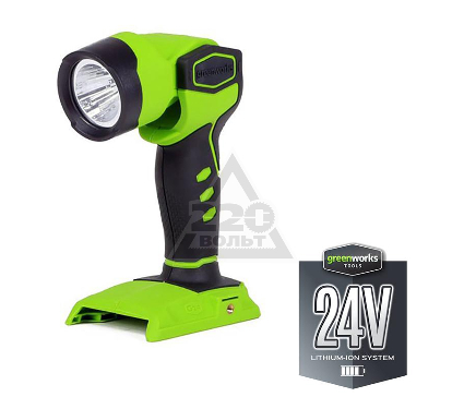 Купить Фонарь GREENWORKS G24WL (3500507) БЕЗ АККУМ и ЗУ, строительные радио фонари