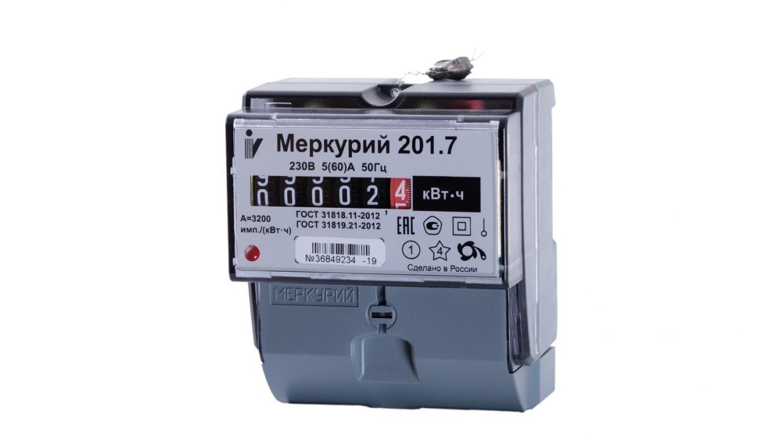 Счетчик электроэнергии ИНКОТЕКС МЕРКУРИЙ 201.7