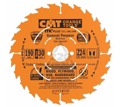 Диск пильный твердосплавный CMT 271.190.24M