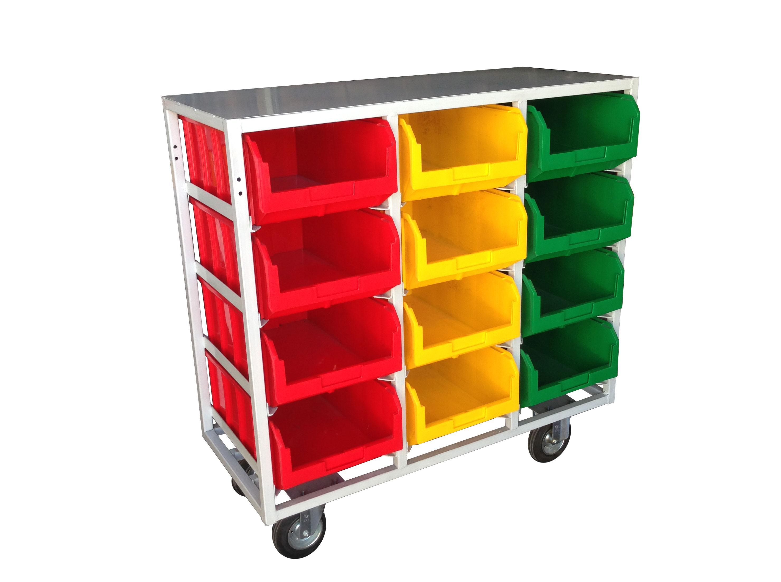 Стеллаж СТЕЛЛА V4-12ячеек (200К) синий/ зеленый/ желтый/ красный