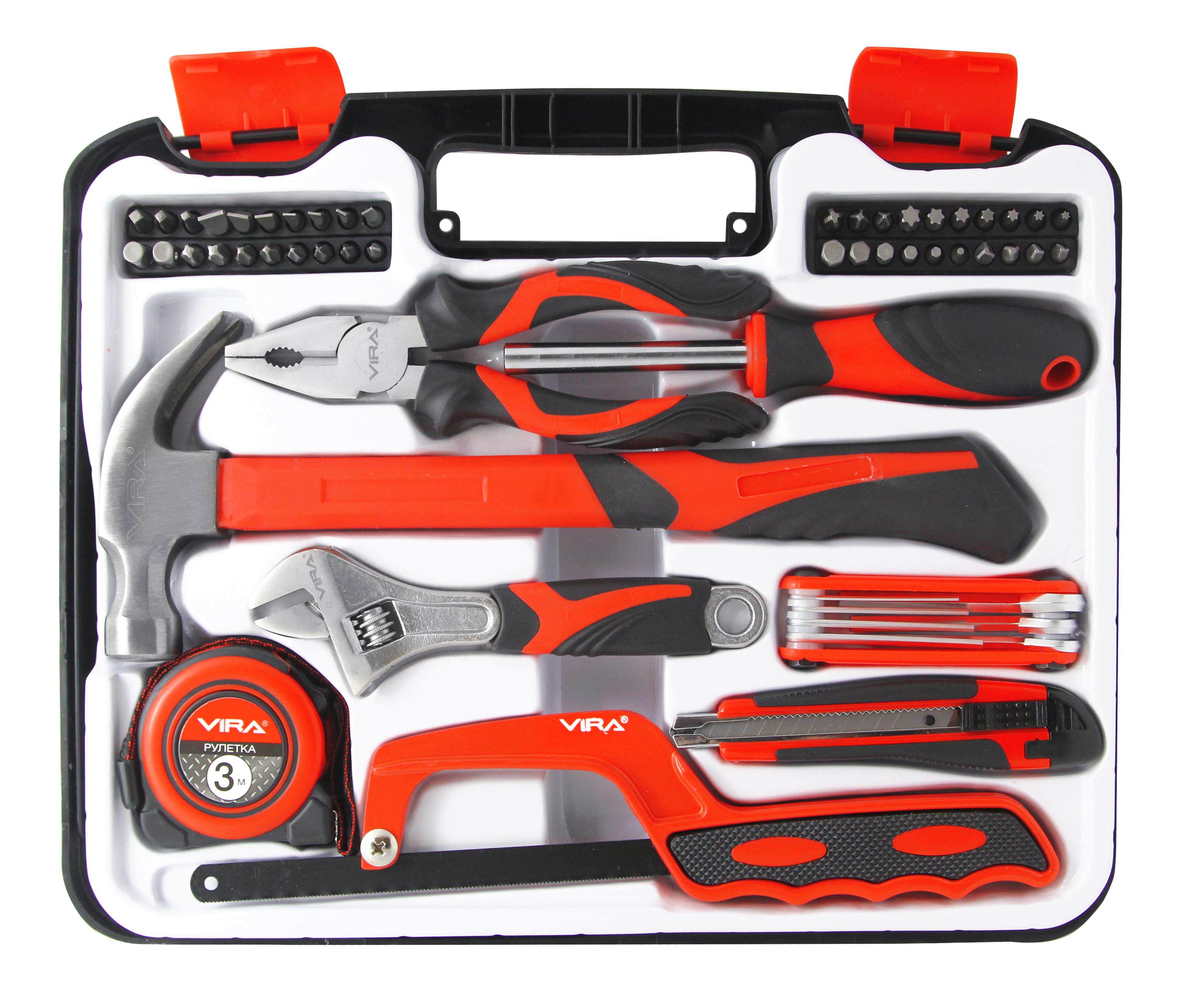 Набор инструментов Vira 305085 ключ разводной vira 311024 cs 12
