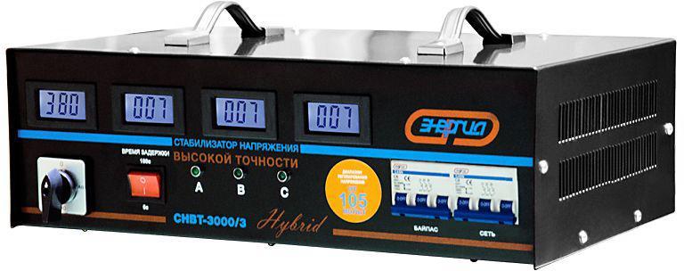 Стабилизатор напряжения ЭНЕРГИЯ СНВТ-3 000/3 hybrid трехфазный электронный стабилизатор энергия classic 22500
