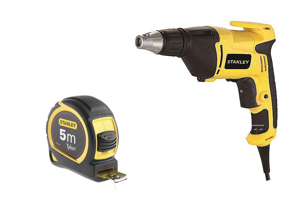 Набор Stanley шуруповерт stdr5206-b9 + рулетка tylon 0-30-697 5м х 19мм