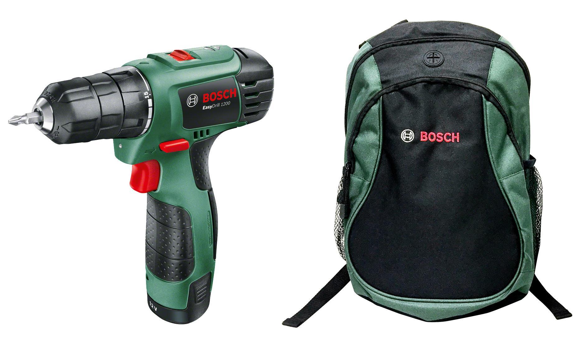 Набор Bosch Дрель-шуруповерт easydrill 1200 06039a210b + рюкзак green (1619g45200)