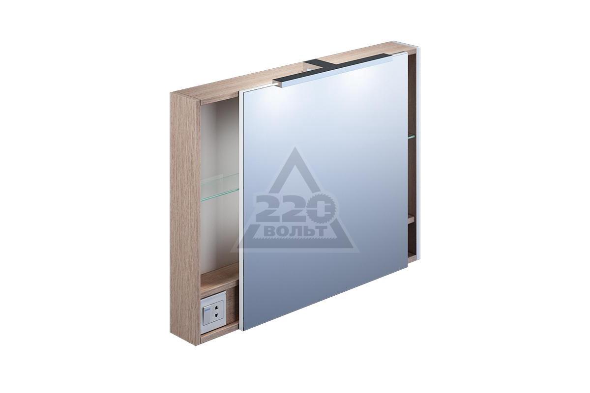 Купить шкаф-зеркало для ванной 80 см, mirro iddis mir8000i99.