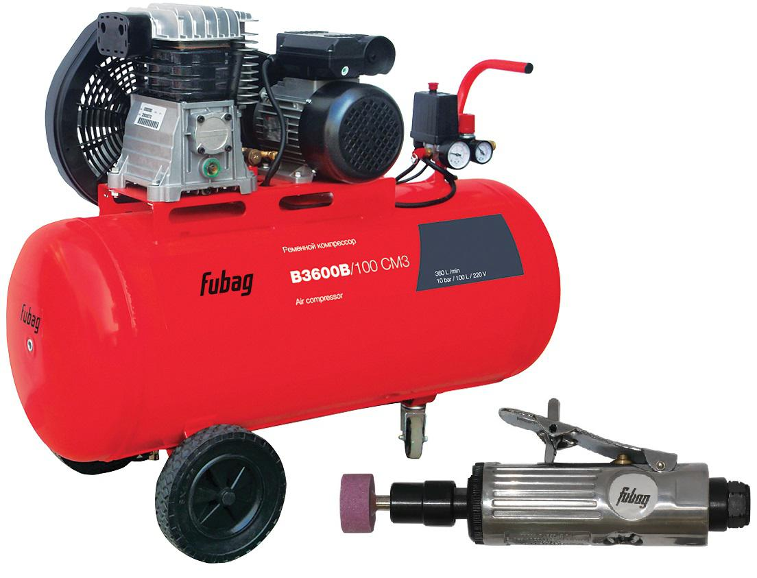 Компрессор Fubag Fubag b3600b/100 cm3 + Шлиф. машина gl103