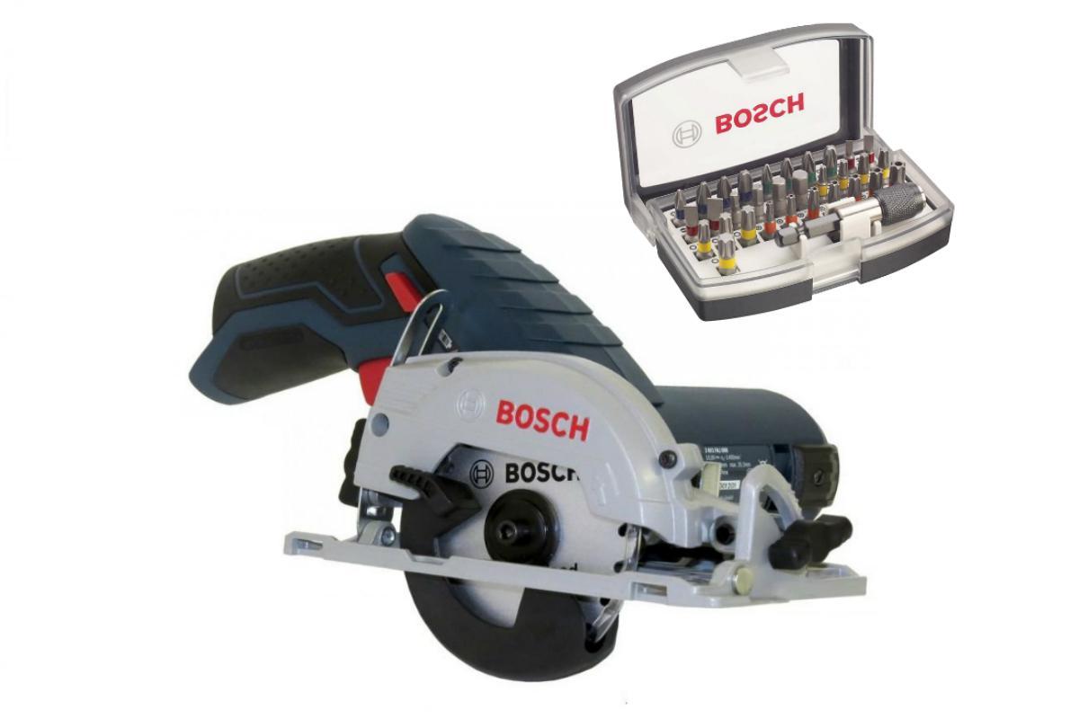Набор Bosch Пила циркулярная gks 12v-26 professionali БЕЗ АКК. и З/У (0.601.6a1.001),Набор бит 2.607.017.319 билет до минска от милитополя