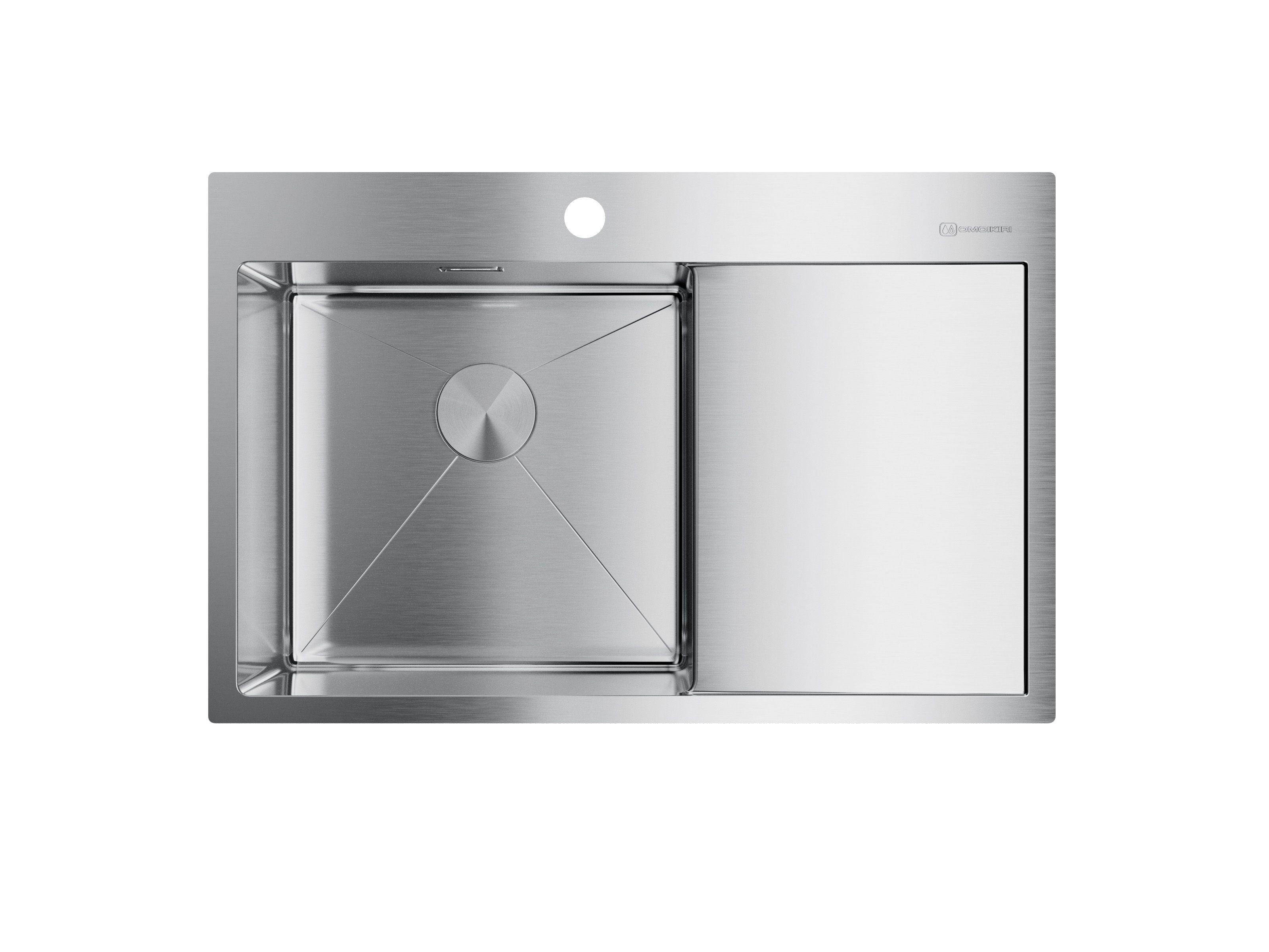 Мойка кухонная Omoikiri Akisame 78-in-l 4973060  смеситель для кухонной мойки bliss l am pm