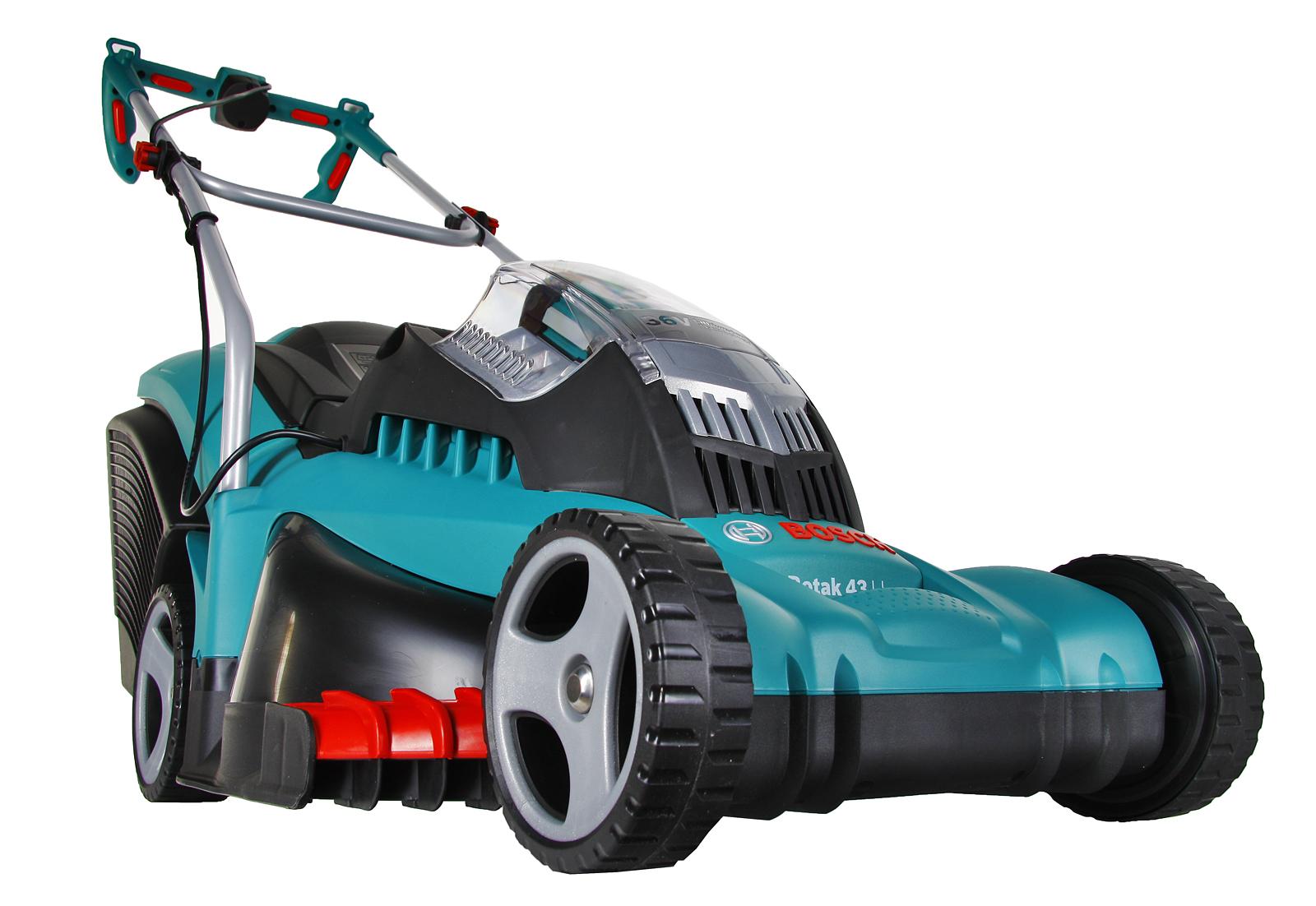Аккумуляторная газонокосилка Bosch Rotak 43 li (0.600.8a4.507) bosch rotak 43 li 06008a4507