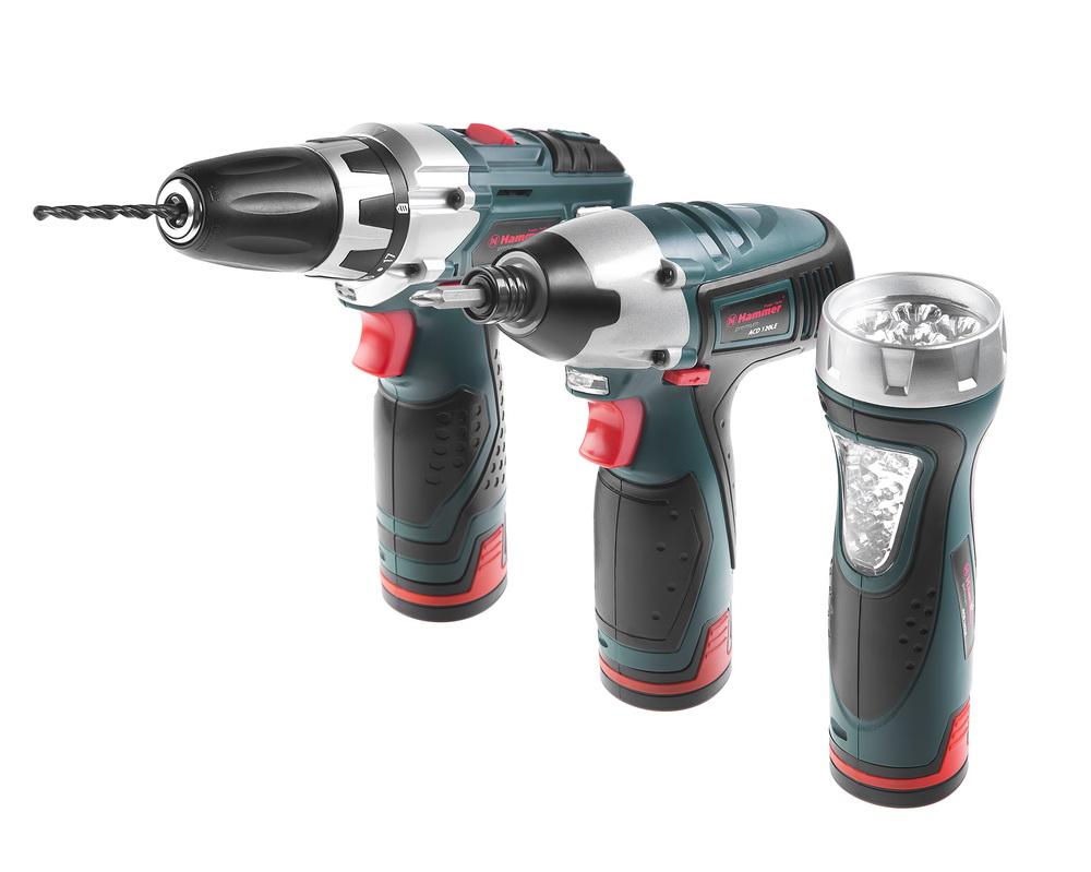 Набор аккумуляторного инструмента Hammer Premium acd120le + acd121le + acd141le  аккум дрель hammer acd121le premium