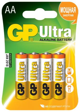Батарейка Gp 15au-bc4 ultra 4шт