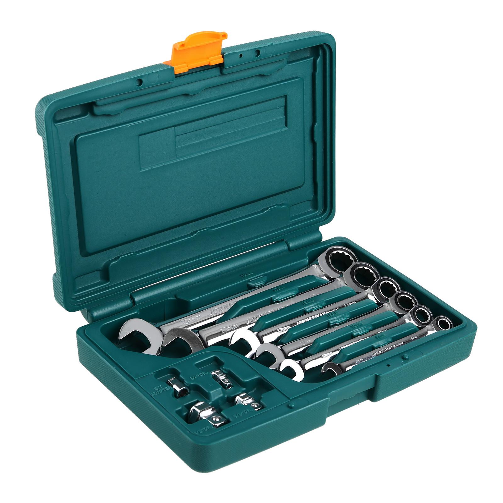 Ключ гаечный с трещоткой Jonnesway W45110s комбинированные трещоточные ключи 10шт