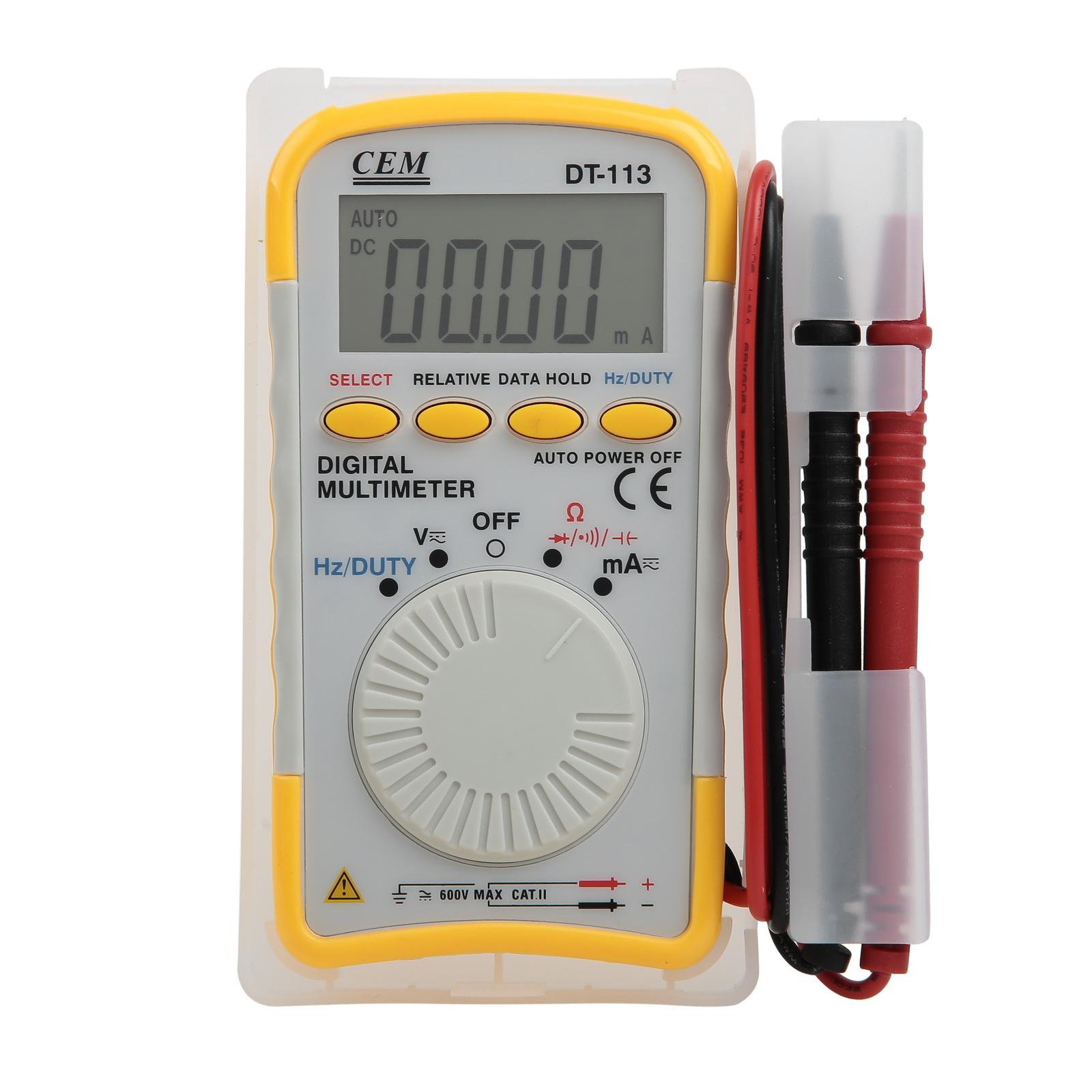 Мультиметр цифровой Cem Dt-113 цифровой