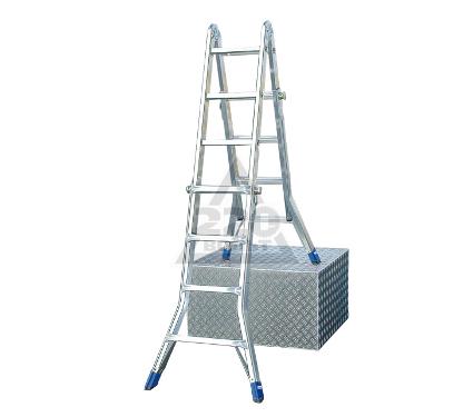 Лестница алюминиевая телескопическая KRAUSE STABILO 4Х4