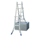 Лестница алюминиевая шарнирная с перекладинами KRAUSE STABILO 4Х5