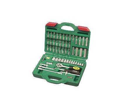 Набор торцевых головок с принадлежностями в пластиковом кейсе, 58 предметов AIST Master 20В158A-M