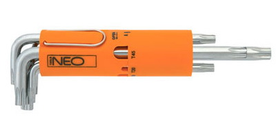 Набор шестигранных ключей (звездочка torx) Г-образных, 8 шт Neo 09-514 набор ключей шестигранных kraft professional torx т10 т50 9 шт