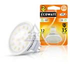 Лампа светодиодная ECOWATT MR16 12В 3.2(35)W 2700K GU5.3