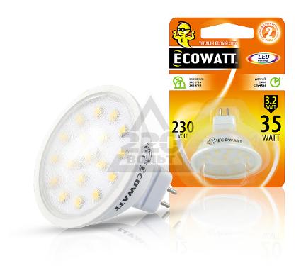 Купить Лампа светодиодная ECOWATT MR16 230В 3.2(35)W 2700K GU5.3, лампы