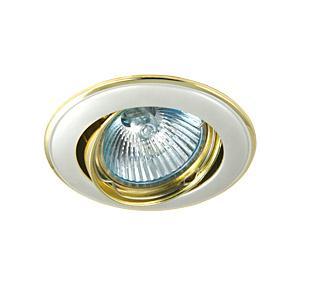 Светильник встраиваемый АКЦЕНТ 11171ja жемчужное серебро/золото