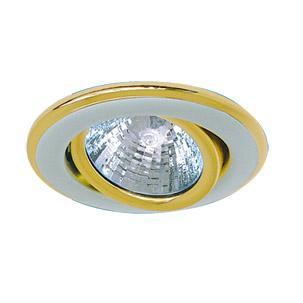 Светильник встраиваемый АКЦЕНТ 113aa1 жемчужное серебро/золото