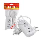 Удлинитель LUX У2-0-02  2-местный без заземления, 220В 10А, 2м