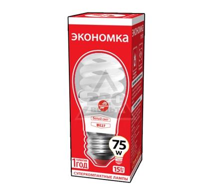 Лампа энергосберегающая ЭКОНОМКА 15Ватт 4200К Е27 Т2