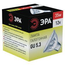 Лампа галогенная ЭРА Gu5.3-mr16-35w-12v-cl