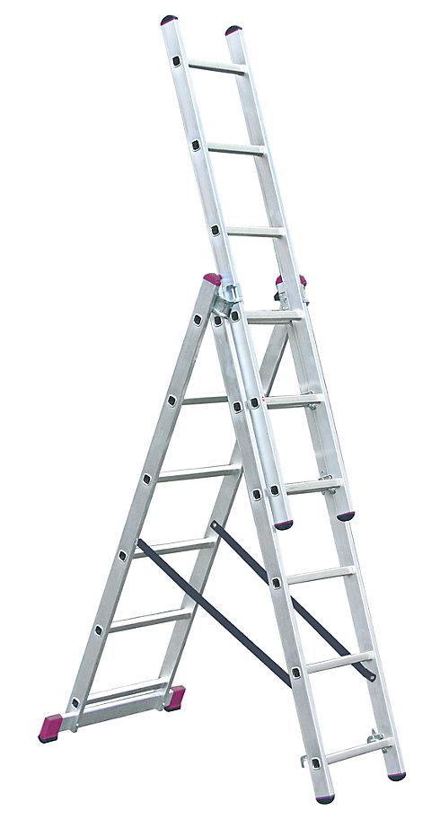 Лестница алюминиевая складная Krause 10360