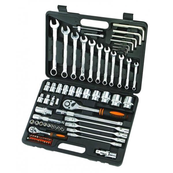 Набор инструментов в чемодане, 76 предметов КРАТОН Ts-06