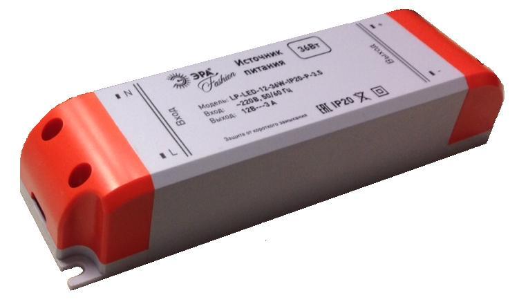 Блок питания ЭРА Lp-led-12-36w-ip20-p-3,5
