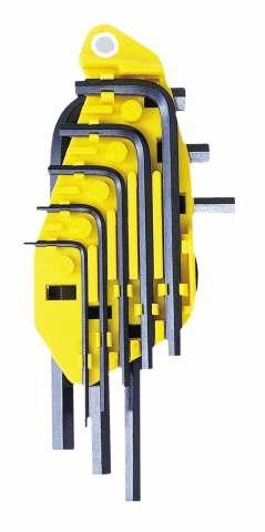 Набор шестигранных ключей угловых, 8 шт. Stanley 0-69-252
