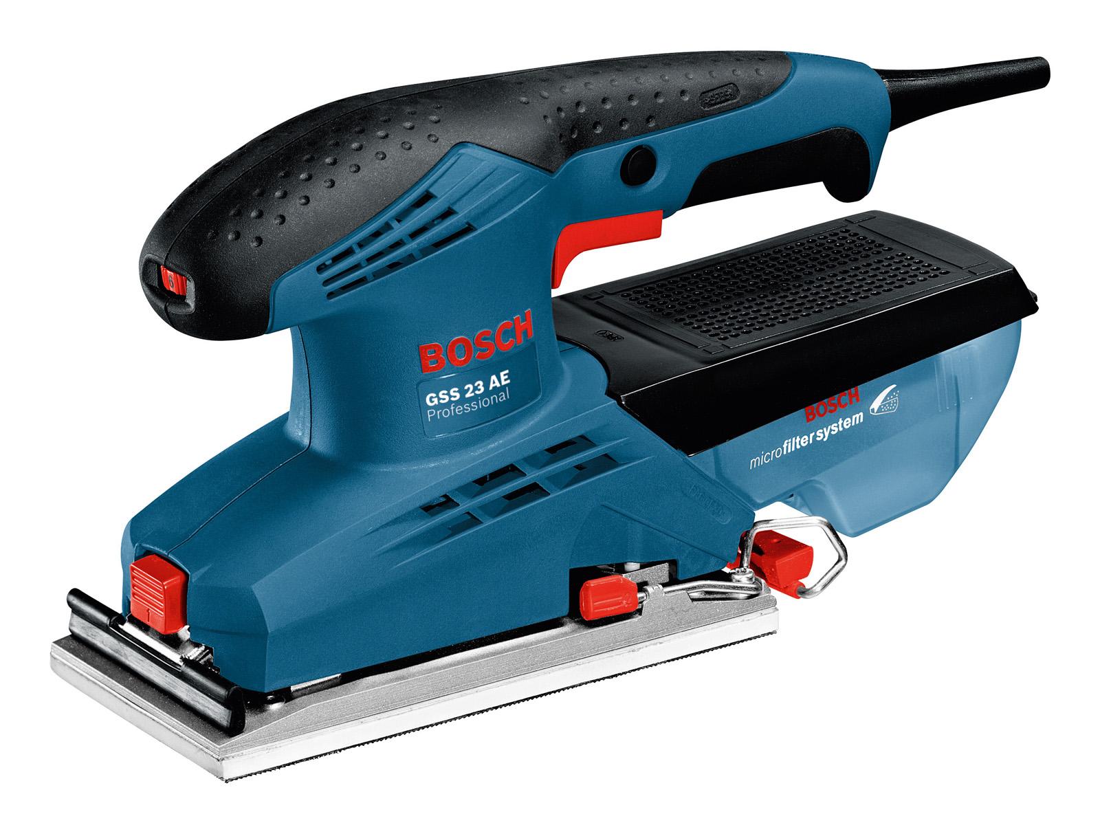 Машинка шлифовальная плоская (вибрационная) Bosch Gss 23 ae