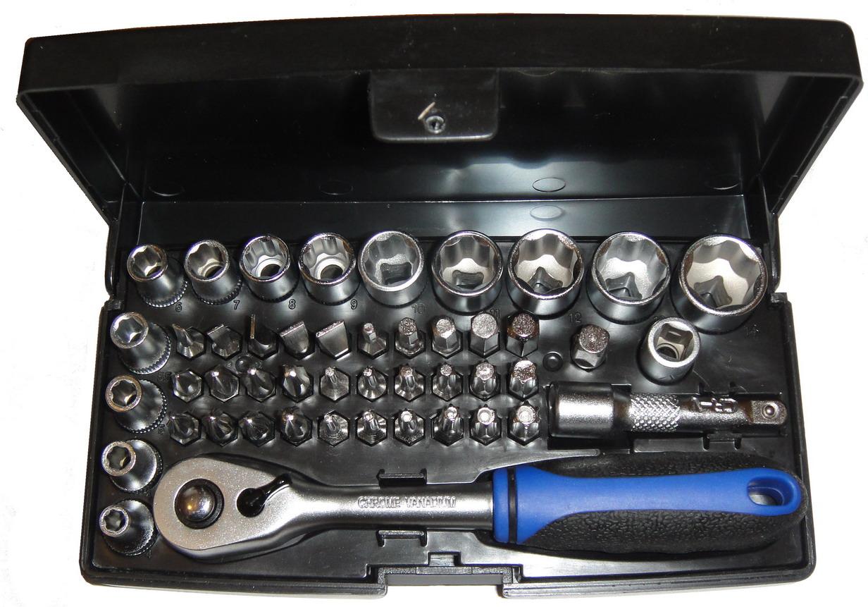 Набор торцевых головок с принадлежностями, 47 предметов Unipro 16745u