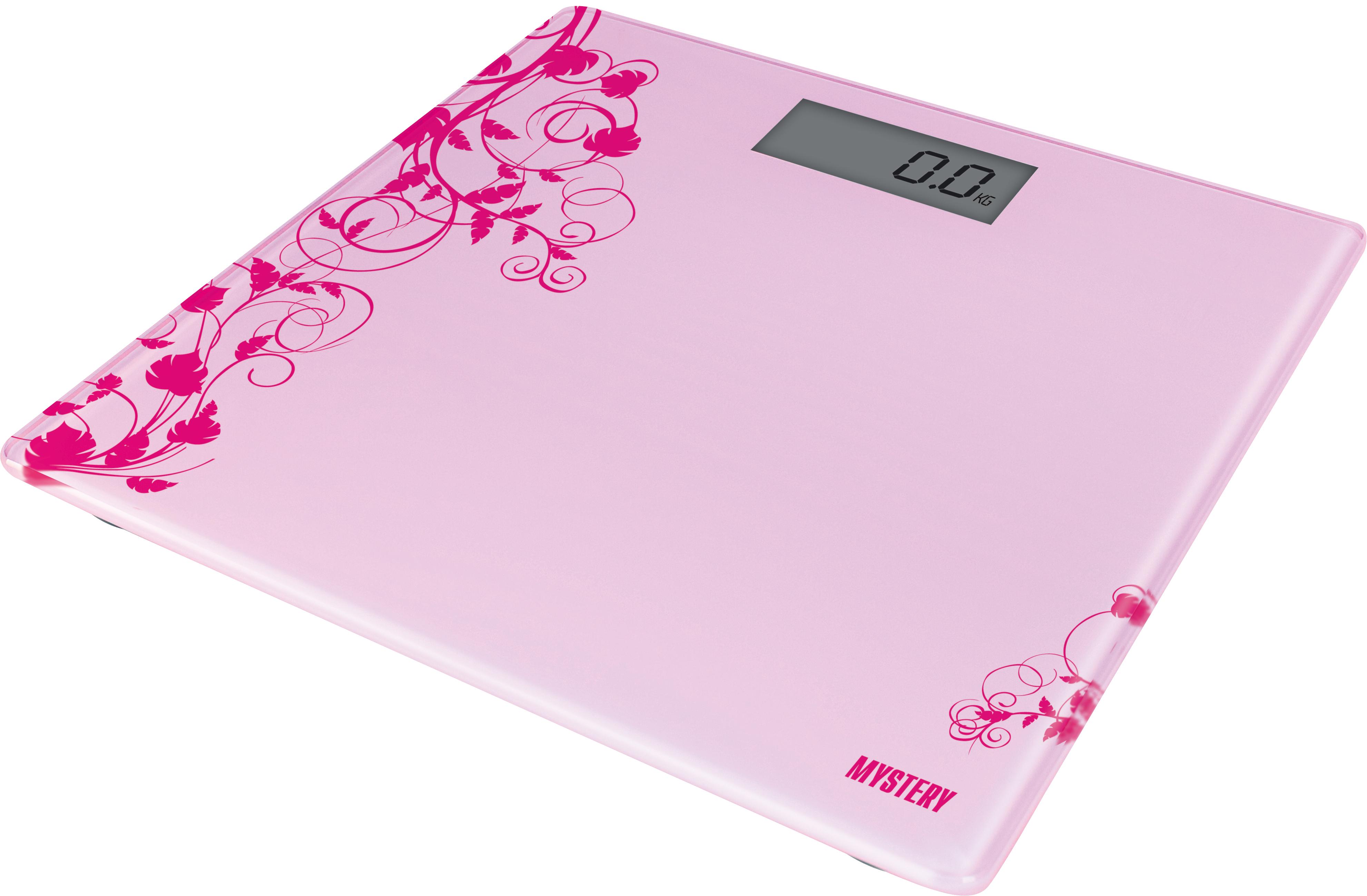 Весы напольные Mystery Mes-1808 pink
