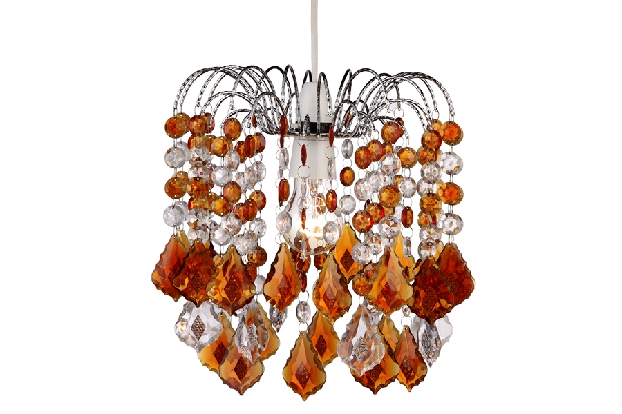 Люстра Lamplandia 158-1 marina amber