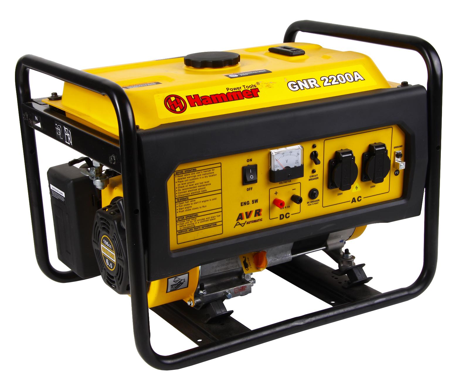 Бензиновый генератор Hammer Gnr2200 А бензиновый