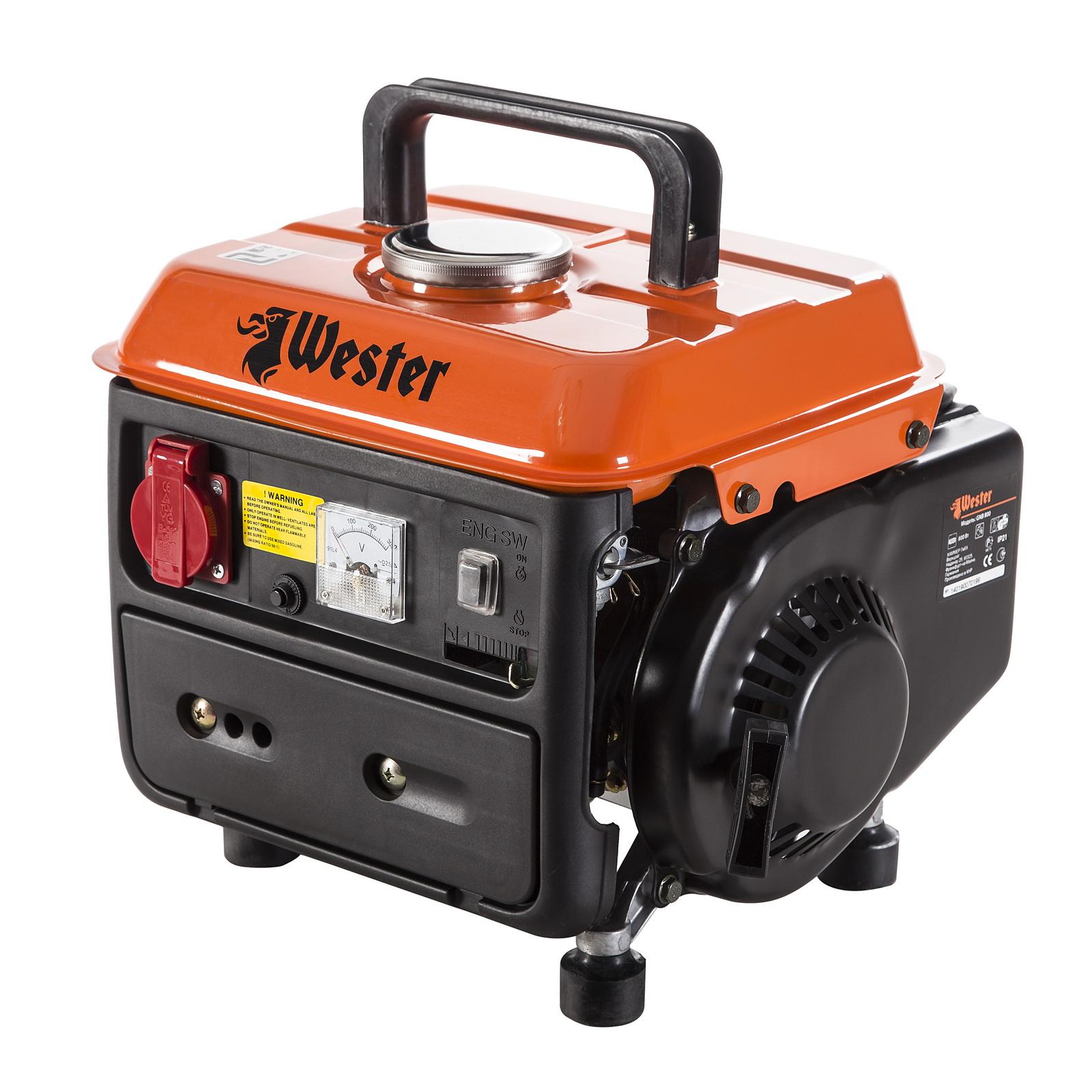 Бензиновый генератор Wester Gnb800 бензиновый