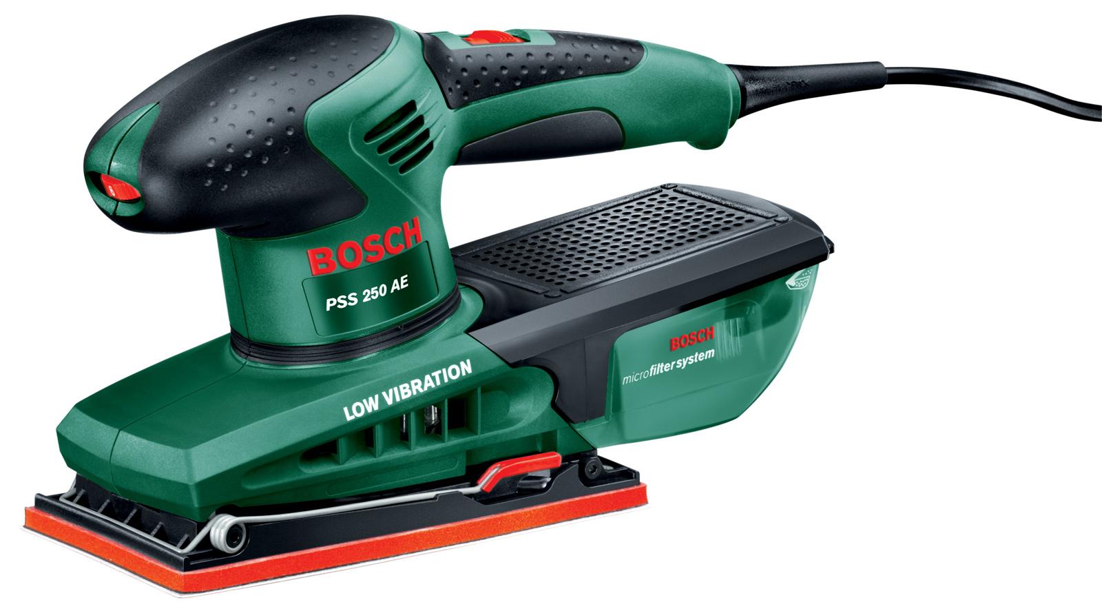 Машинка шлифовальная плоская (вибрационная) Bosch Pss 250 ae