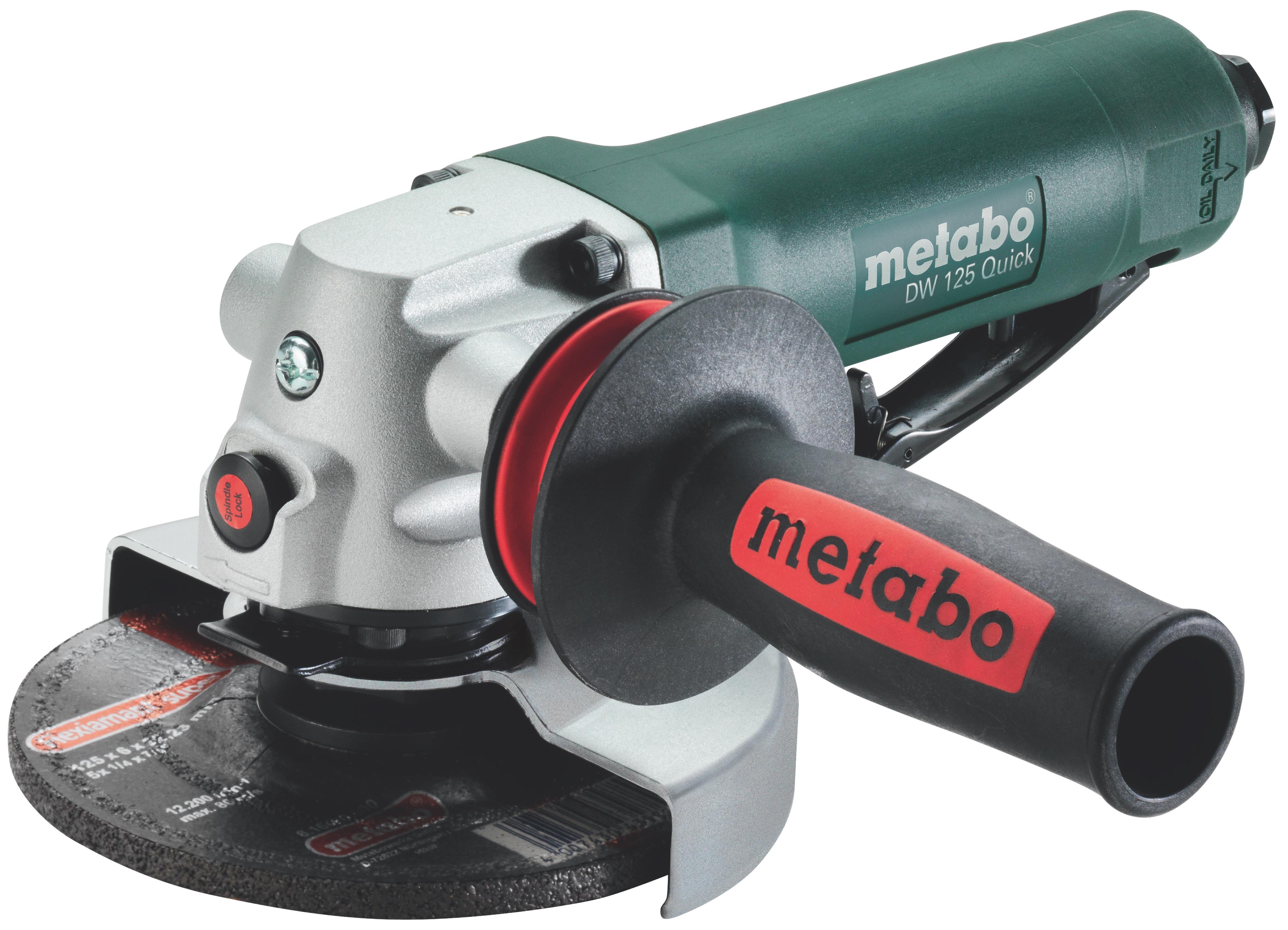 Машина углошлифовальная пневматическая Metabo Dw125quick