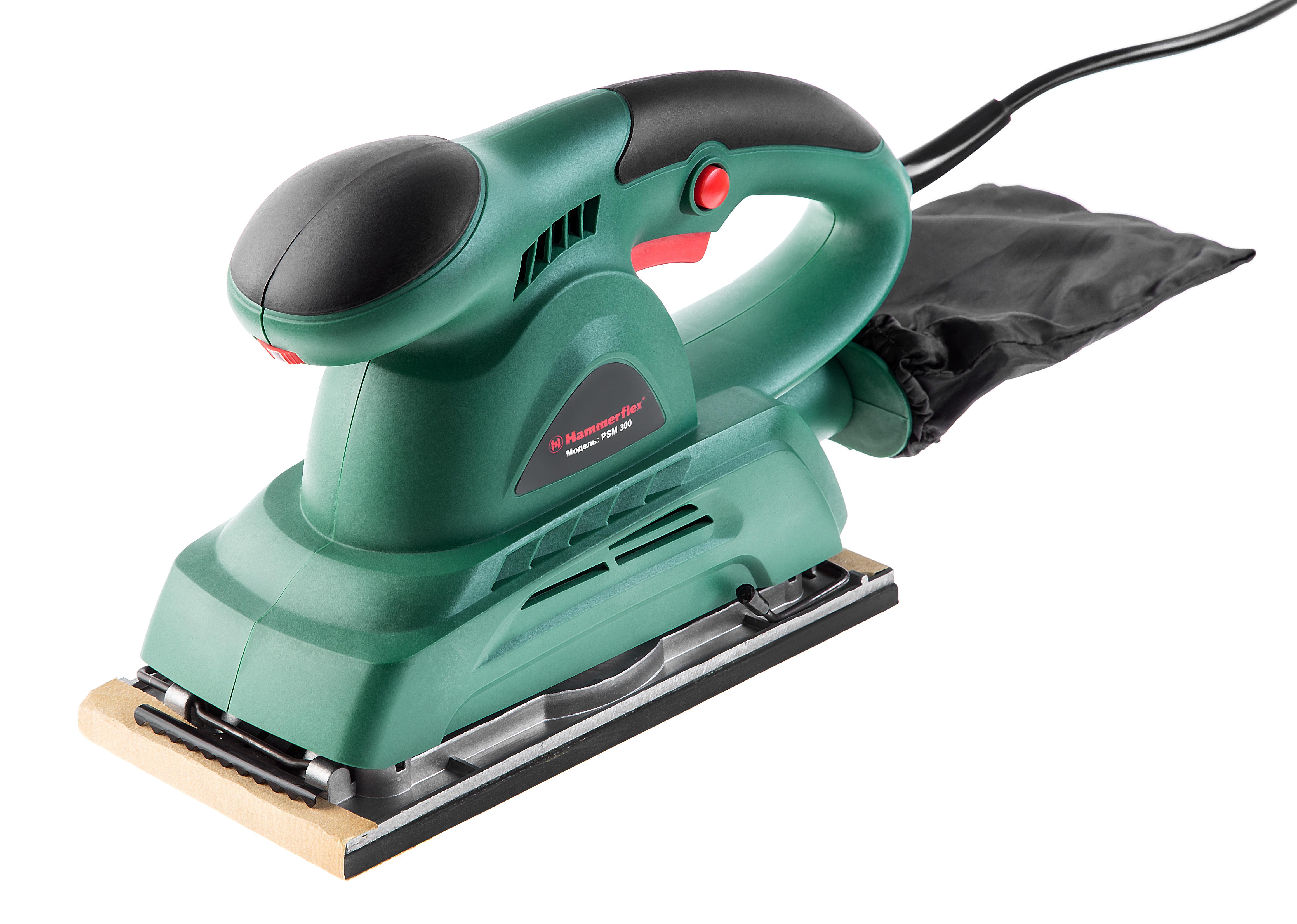Машинка шлифовальная плоская (вибрационная) Hammer Psm300