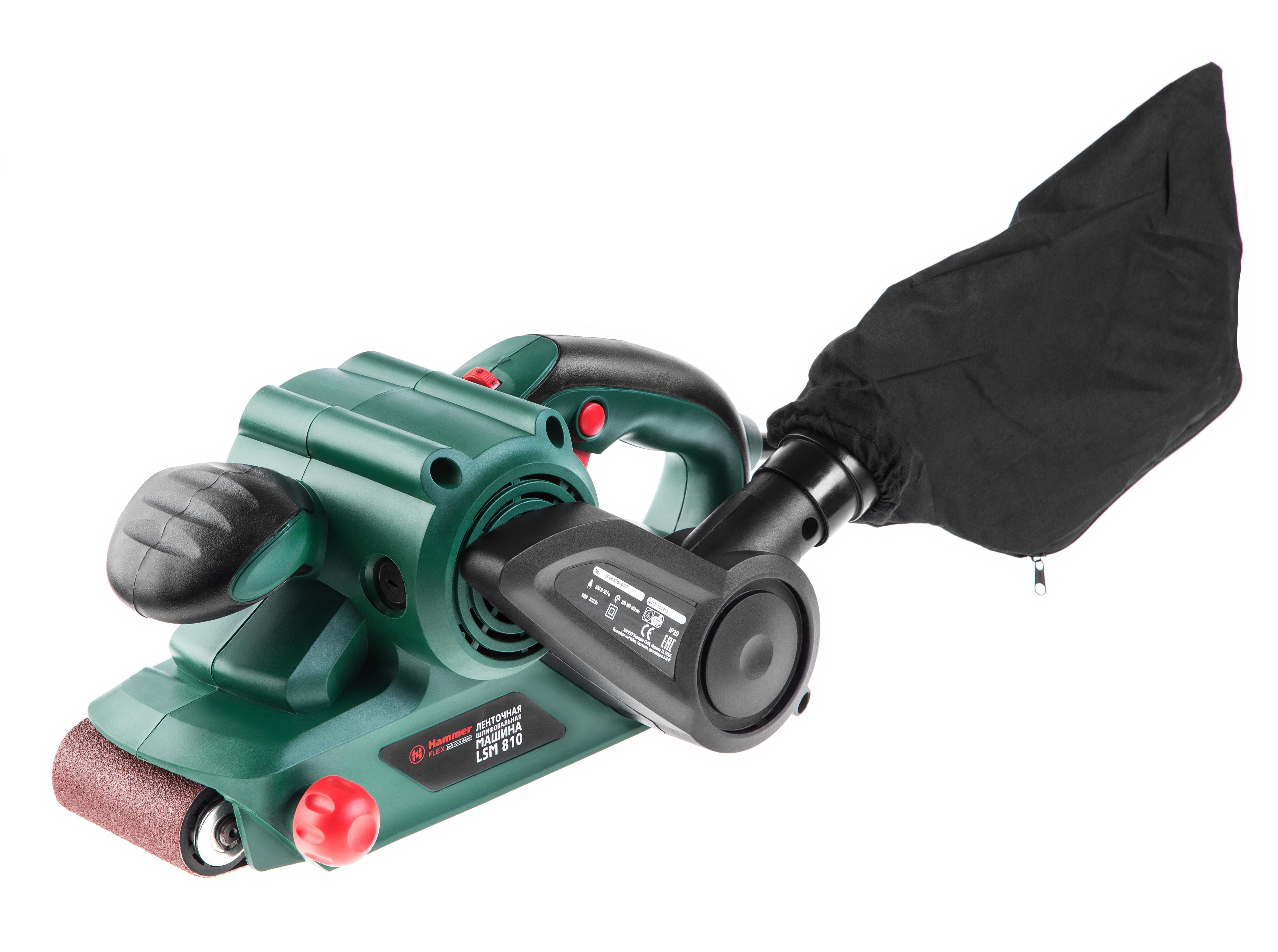 Машинка шлифовальная ленточная Hammer Lsm810