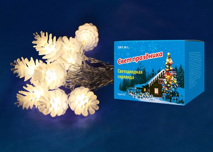 Гирлянда Uniel Uld-s0280-025/dta warm white ip20 pine cones