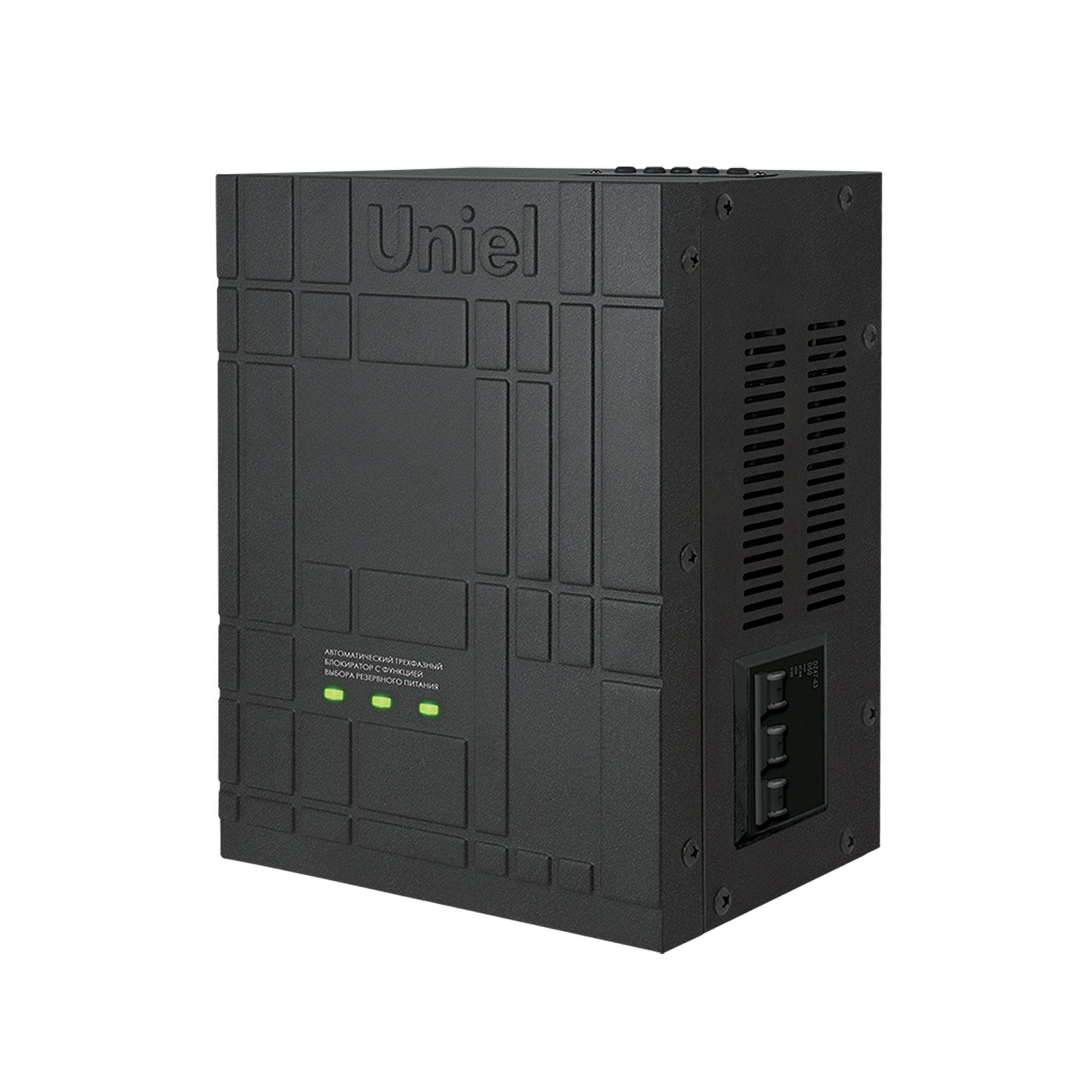 Фото. Автоматический трехфазный блокиратор Uniel Ubr-55ba-3g36/sls