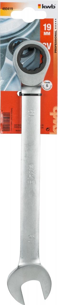 Ключ гаечный с трещоткой Kwb 4604-19