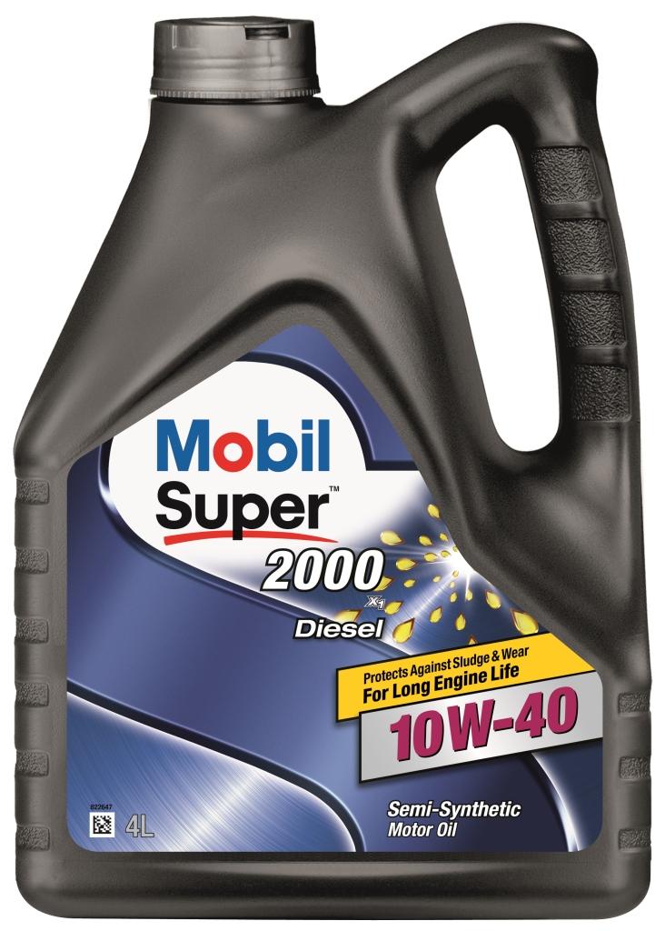 Масло моторное Mobil Super 2000 diesel x1 10w-40 (4л)