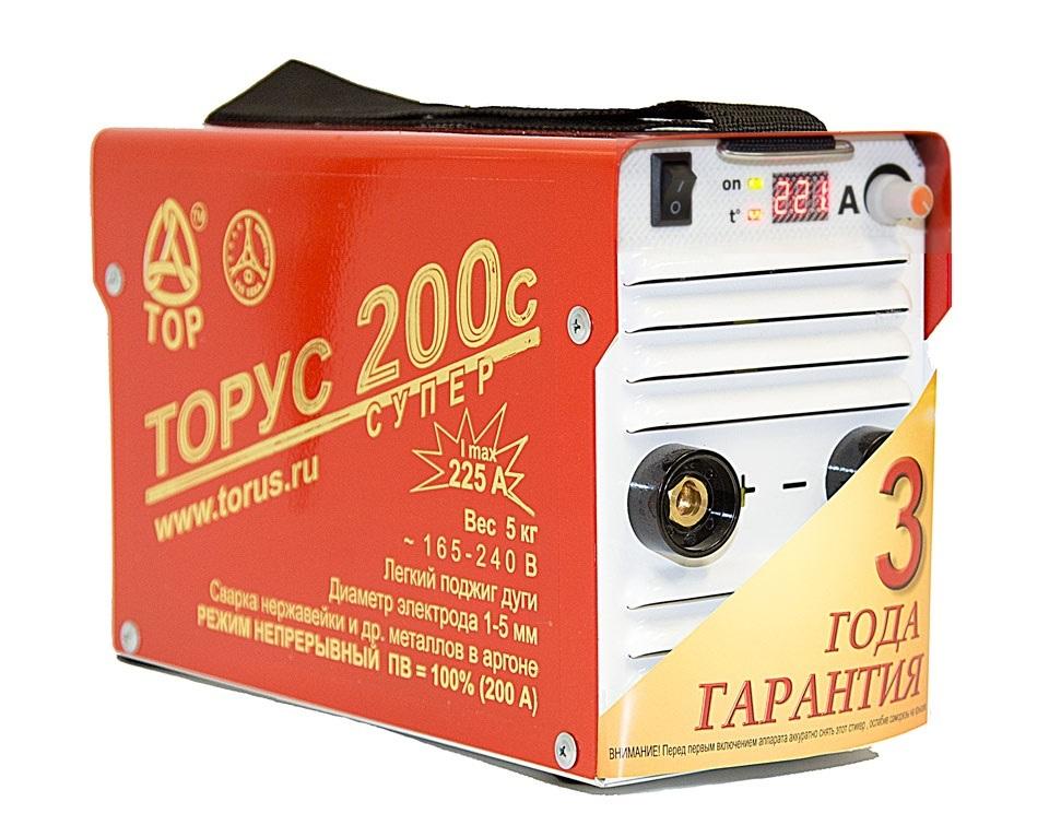 Сварочный аппарат ТОРУС 200с СУПЕР + провода