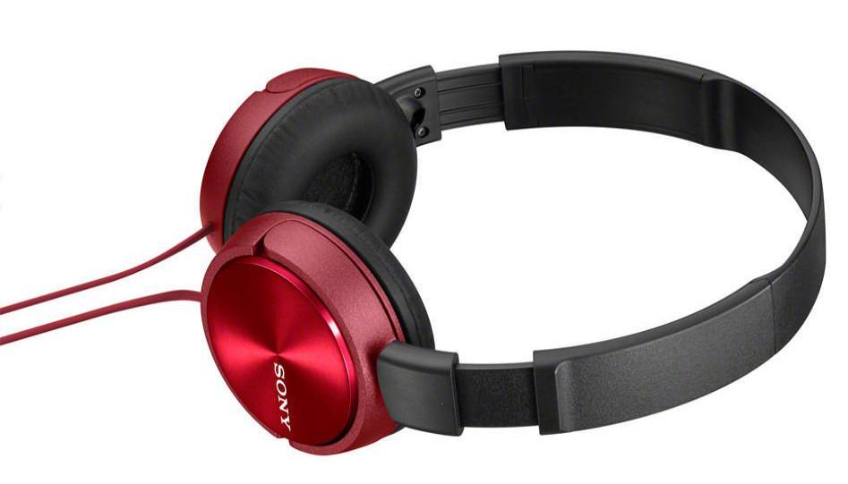 Наушники полноразмерные Sony Mdr-zx310/r красный
