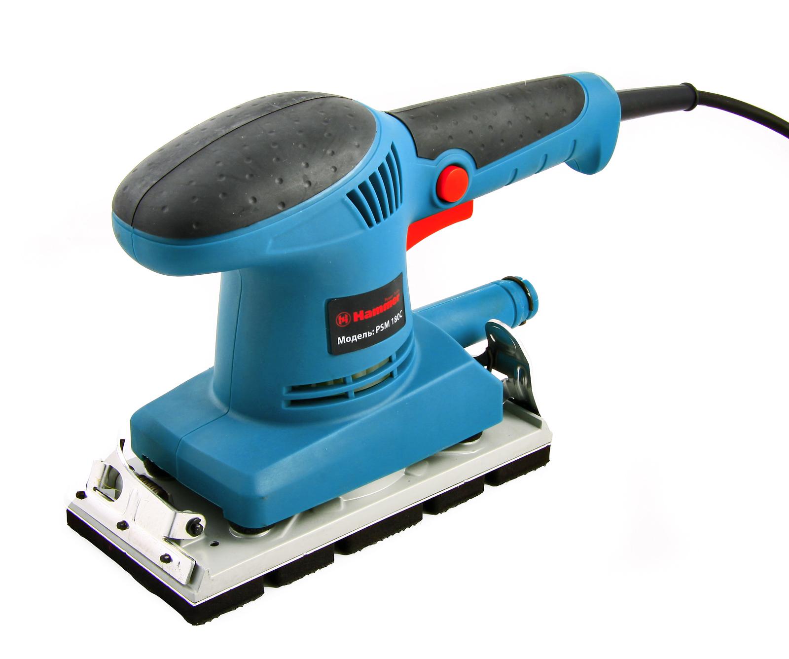 Машинка шлифовальная плоская (вибрационная) Hammer Psm180c premium