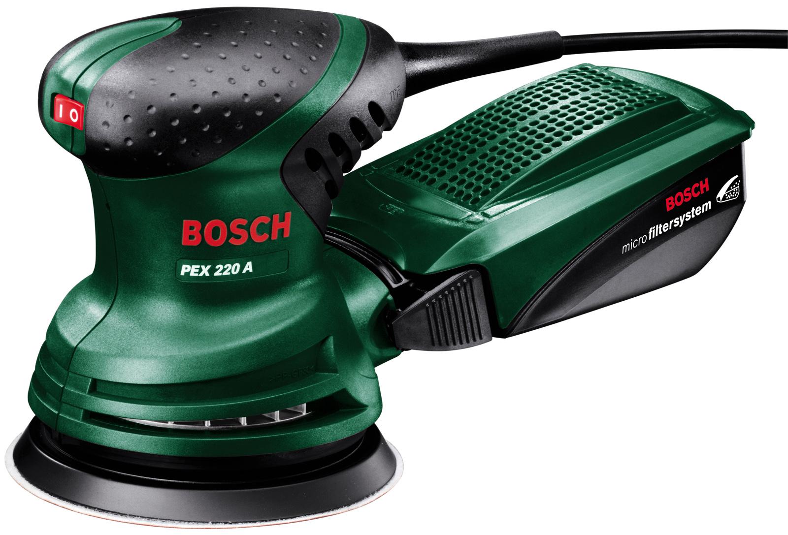 Орбитальная (эксцентриковая) шлифмашина Bosch Pex 220 a